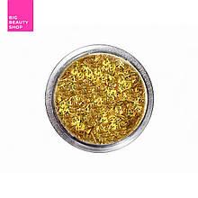 Соломка в баночке для ногтей золотая №2 А286-2