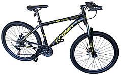 Велосипед спортивный горный черно-желтый 26 дюймов колёса Crolan L806