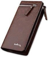 Портмоне чоловічий клатч гаманець Baellerry Italia Коричневий, фото 1