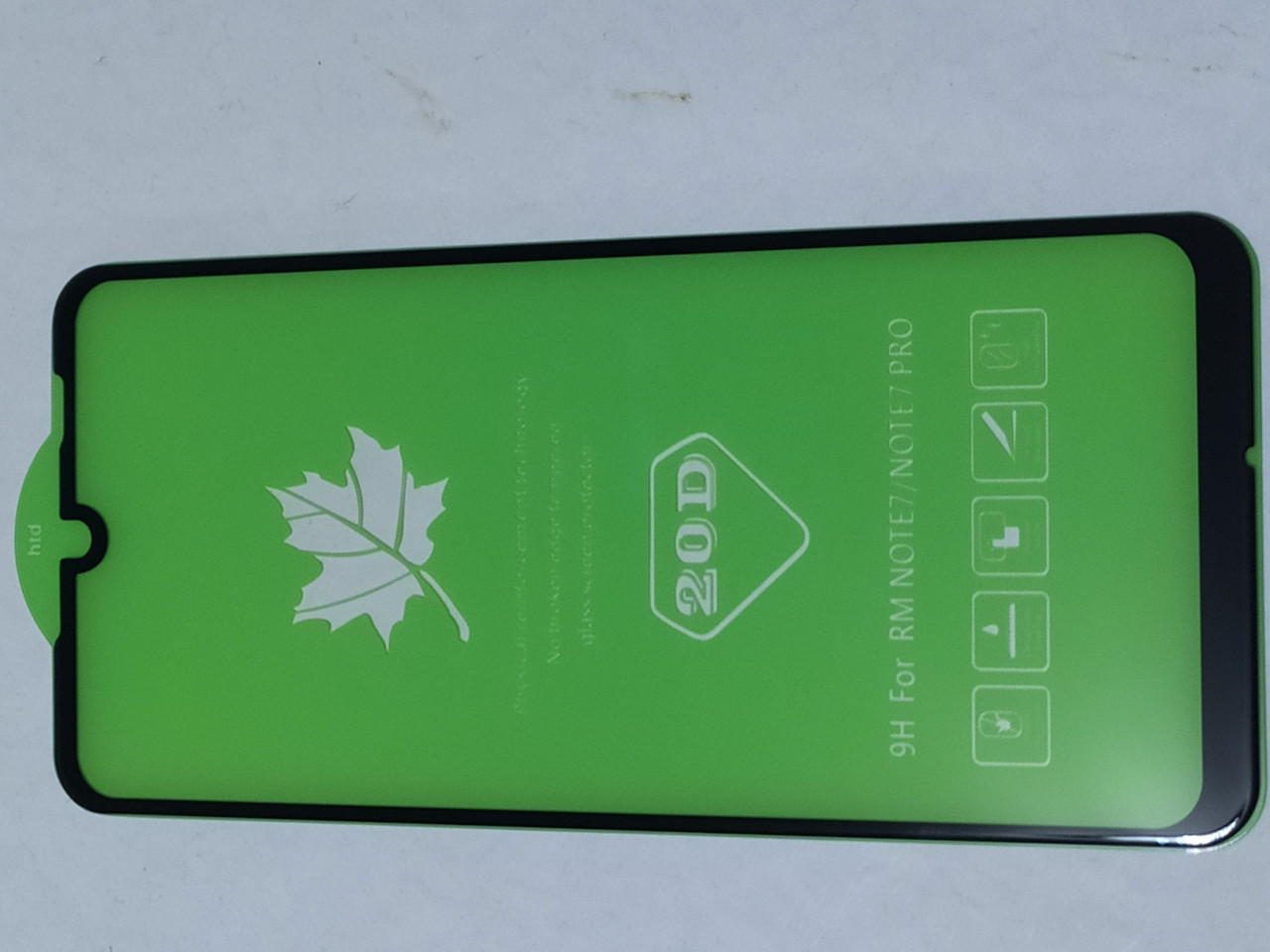 Защитное  20D стекло  Xiaomi Redmi note 7 / Redmi note 7 pro (черное)