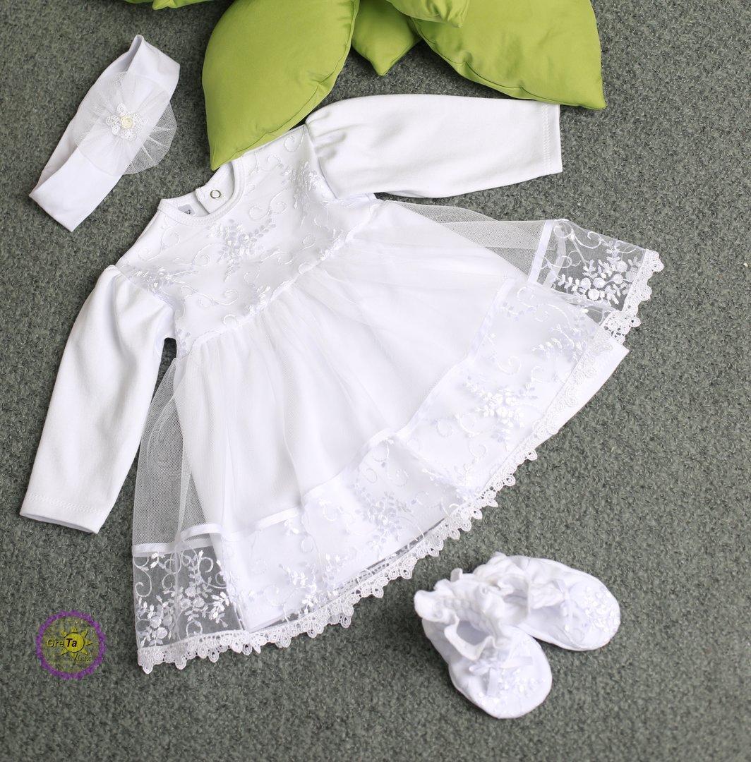 Хрестильний комплект плаття для дівчинки 62