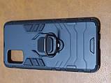 Чехол накладка Protected Case с кольцом  для Samsung A51 (черный), фото 2