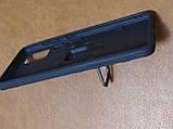 Чехол накладка Protected Case с кольцом  для Samsung A51 (черный), фото 3