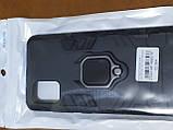 Чехол накладка Protected Case с кольцом  для Samsung A51 (черный), фото 4