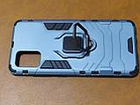 Чехол накладка Protected Case с кольцом  для Samsung A51 (серый), фото 2