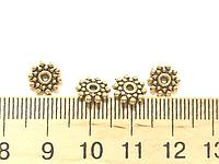 Рондели 140 шт античное золото металлический