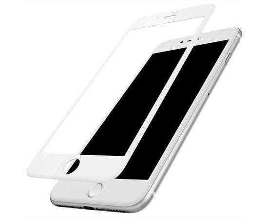3D Стекло iPhone 7Plus/8Plus Белое (На весь Экран)