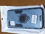 Чехол накладка Protected Case с кольцом  для Samsung A51 (серый), фото 3