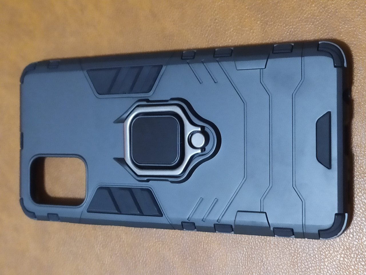 Чохол накладка Protected Case з кільцем для Samsung A71 (чорний)
