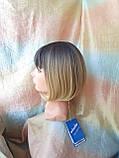 Парик каре прямое омбре TERESA мокка-платиновый, фото 10
