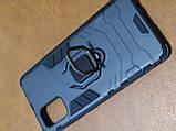 Чехол накладка Protected Case с кольцом  для Samsung A71 (черный), фото 2