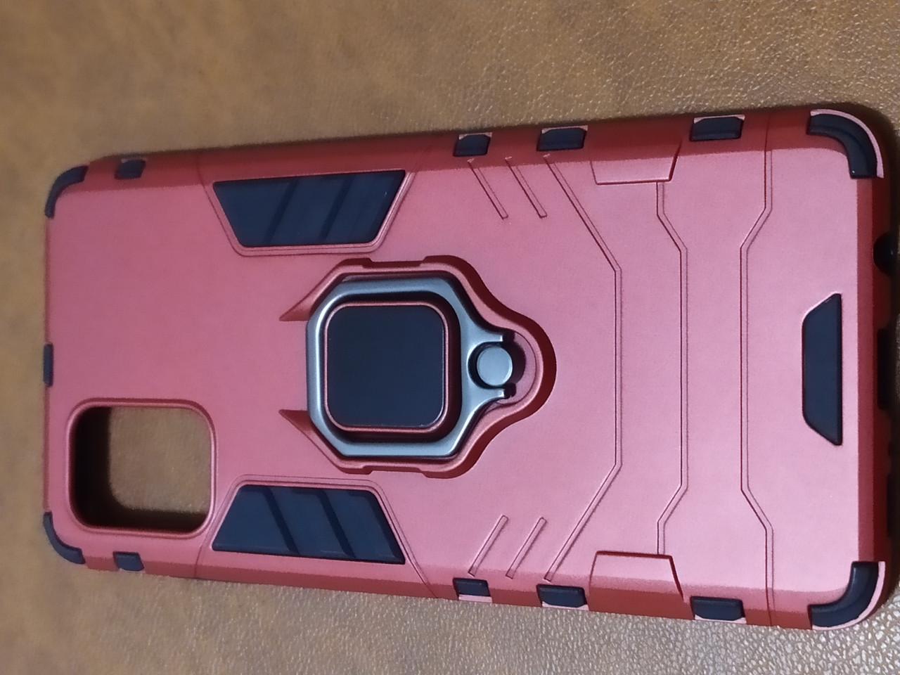 Чохол накладка Protected Case з кільцем для Samsung A71 (червоний)