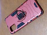 Чохол накладка Protected Case з кільцем для Samsung A71 (червоний), фото 2