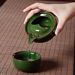 Чайник заварник с чашкой керамический 130 и 90 мл