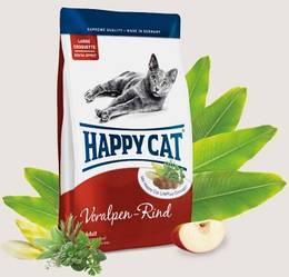Корм Happy Cat Adult Supreme Voralpen Rind для дорослих котів з альпійською яловичиною 0,3 кг
