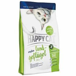 Корм Happy Cat Sensitive Adult LandGeflugel для чутливого травлення у котів з домашнєю птицею 4 кг