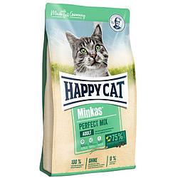 Корм Happy Cat Minkas Perfect Mix Хеппі Кет з птицею, ягням та рибою для дорослих котів  10 кг