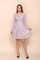Коктейльное розовое вечернее платье в паетках для праздника. Размеры 40, фото 1