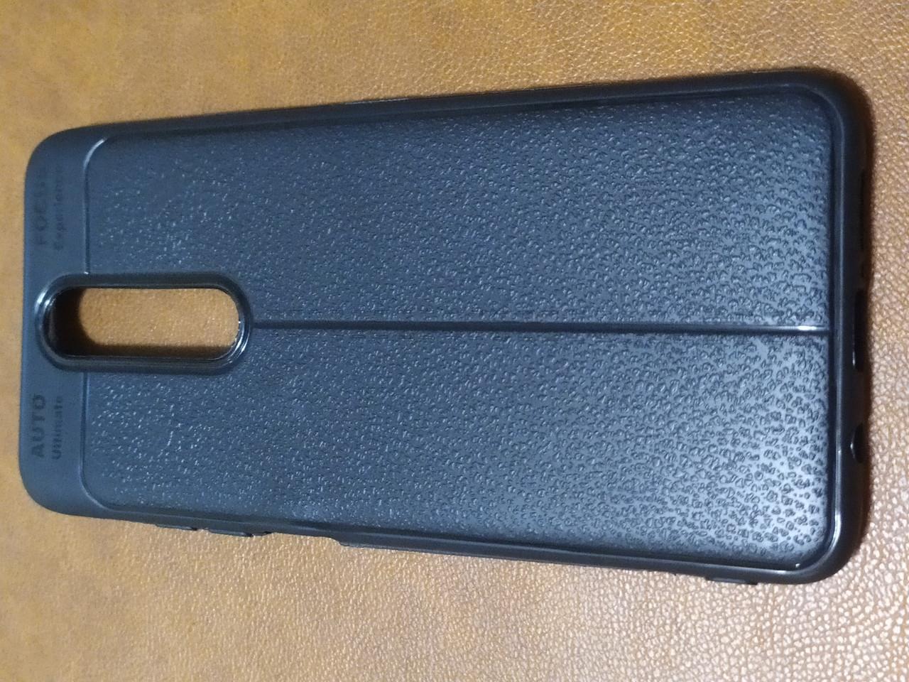 Чохол накладка Auto Focus Leather для Xiaomi Redmi K30 (чорний)