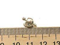 Замок 8мм магнитный цвет серебро