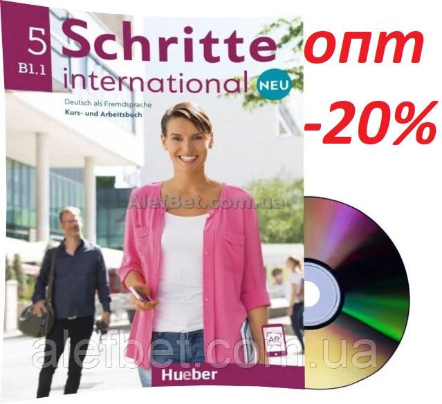 Немецкий язык / Schritte international Neu / Kursbuch+Arbeitsbuch+CD. Учебник+Тетрадь с диском, B1.1 / Hueber