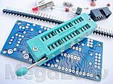 Отладочная плата Адаптер для программатора + ZIF панель для AVR микроконтроллеров ATmega8 ATmega48 конструктор, фото 2