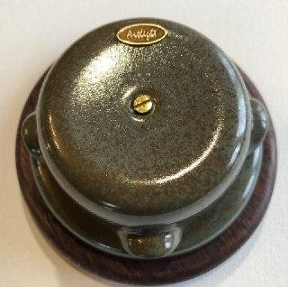 Ретро розподільна коробка порцеляновий Artlight, Marsh grass, фурнітура бронза, нікель