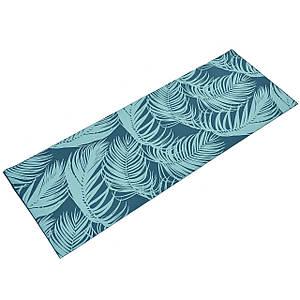 Коврик для йоги и фитнеса Palmtree 173х61 4 мм двухслойный PVC