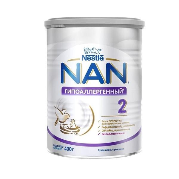 Nestle  NAN Смесь Гипоаллергенный 2, 400 г.