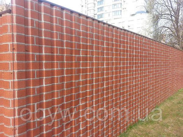 Забор из профнастила декоративный