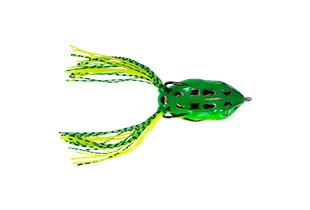 Лягушка силиконовая с двойником Wizard WIGGLY FROG GREEN 5,5см