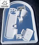 Набір для ванни з дзеркалом Berossi (7 предметів) білий мармур, фото 4