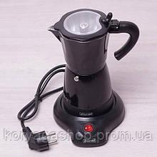 Гейзерная электрическая кофеварка из алюминия на 6 порций (300 мл) Kamille KM-2600