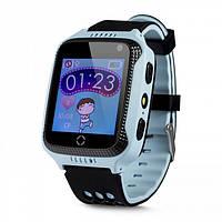 Умные детские часы-телефон с GPS трекером Smart Baby Watch Q529 Голубые