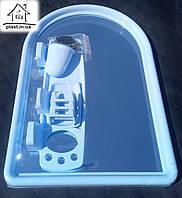 Набор для ванны с зеркалом Berossi (7 предметов) голубой