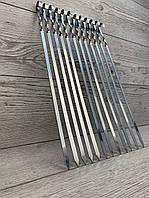 Шампур плоский 450\10\1.5 нержавеющая сталь