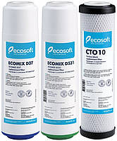 Комплект картриджей для фильтра обратного осмоса Ecosoft CRV-3E-CO, фото 1