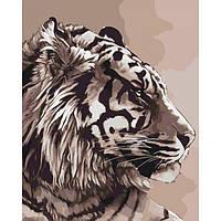 """Набор  """"Идейка"""" для росписи по номерам Животные, птицы """"Амурский тигр"""" 40*50см КНО2496"""