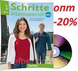 Немецкий язык / Schritte international Neu / Kursbuch+Arbeitsbuch+CD. Учебник+Тетрадь с диском, A1.1 / Hueber
