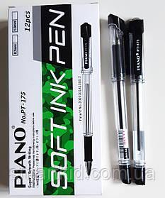 Ручка PIANO PT-175 12шт, чорна