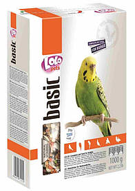 LoLo Pets Полнорационный корм для волнистых попугаев, 1 кг