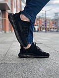 Стильные кроссовки Adidas Yeezy Boost 350 V2 Black (Адидас Изи Буст 350), фото 4