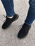 Стильные кроссовки Adidas Yeezy Boost 350 V2 Black (Адидас Изи Буст 350), фото 7