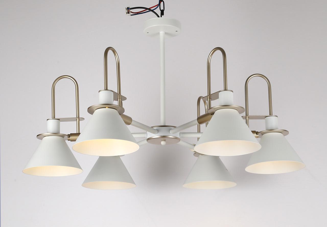 Люстра в современном исполнении на 6 ламп