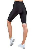 Спортивные женские велосипедки для фитнеса и бега, велошорты из бефлекса для спорта Valeri 2004.1 черные, фото 1