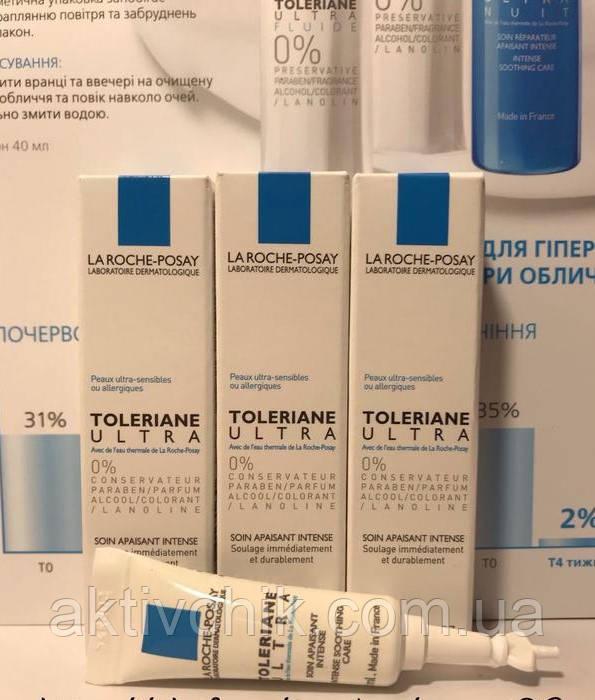 Крем La Roche-Posay Toleriane Ultra интенсивный успокаивающий для сверхчувствительной и аллергичной кожи 2 мл