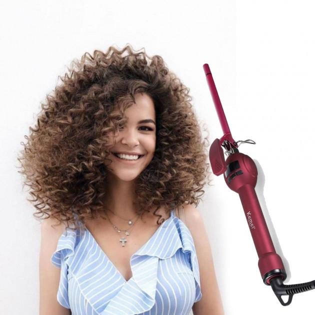 Плойка для завивки волос афрокудри Kemei KM 1023 9 мм