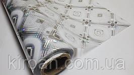 М'яке скло з лазерним малюнком, товщина 1 мм, ширина 60 см (На метраж) колір срібло