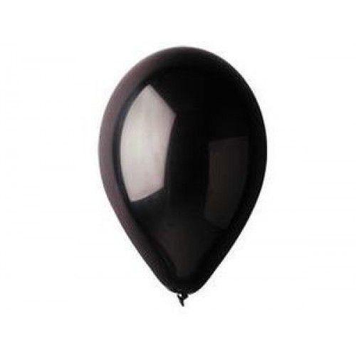 Воздушный шар без рисунка 30 см черный