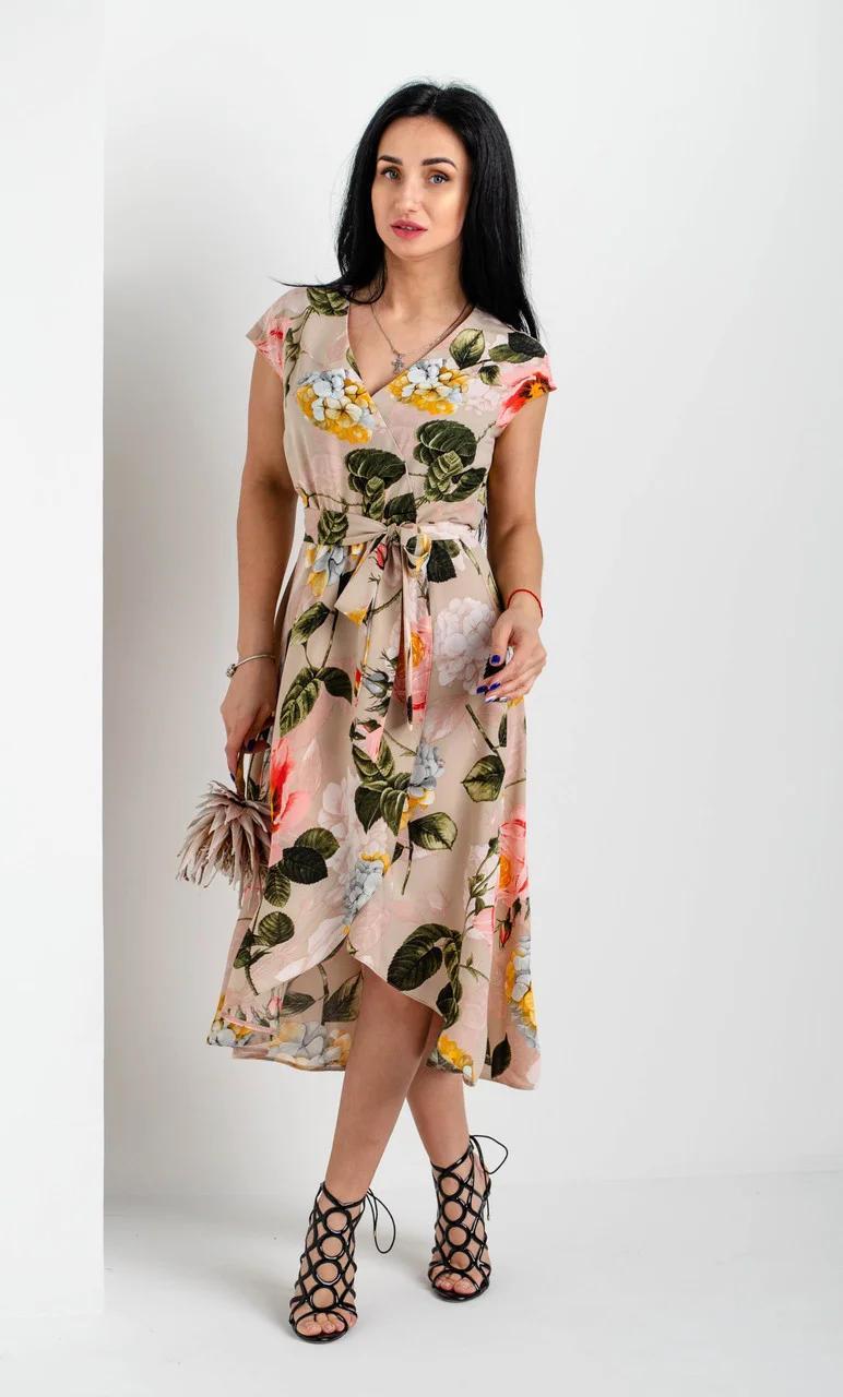 Очаровательное и милое платье длины миди на запах.Разные цвета